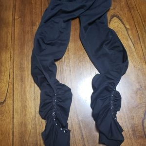 Inc ruched studded leg cropped leggings small nwot